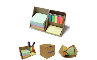12516 Bloco de anotações com post-it formato cubo
